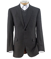 Joseph 2 Button Tailored Fit Mixweave Check Sportcoat Extended Sizes