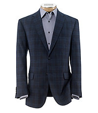 Joseph 2 Button Tailored Fit Plaid Sportcoat