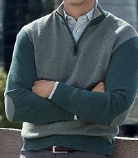 Joseph Half Zip Birdseye Sweaters