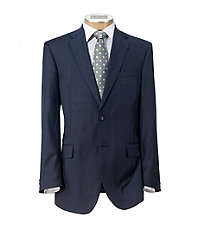 Signature Gold 2-Button Tailored Fit Wool Suit Extended Sizes