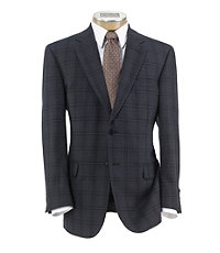 Signature Sportcoat 2-Button Plaid With Deco Windowpane