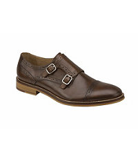Conrad Double Monk Strap Shoe by Johnston and Murphy