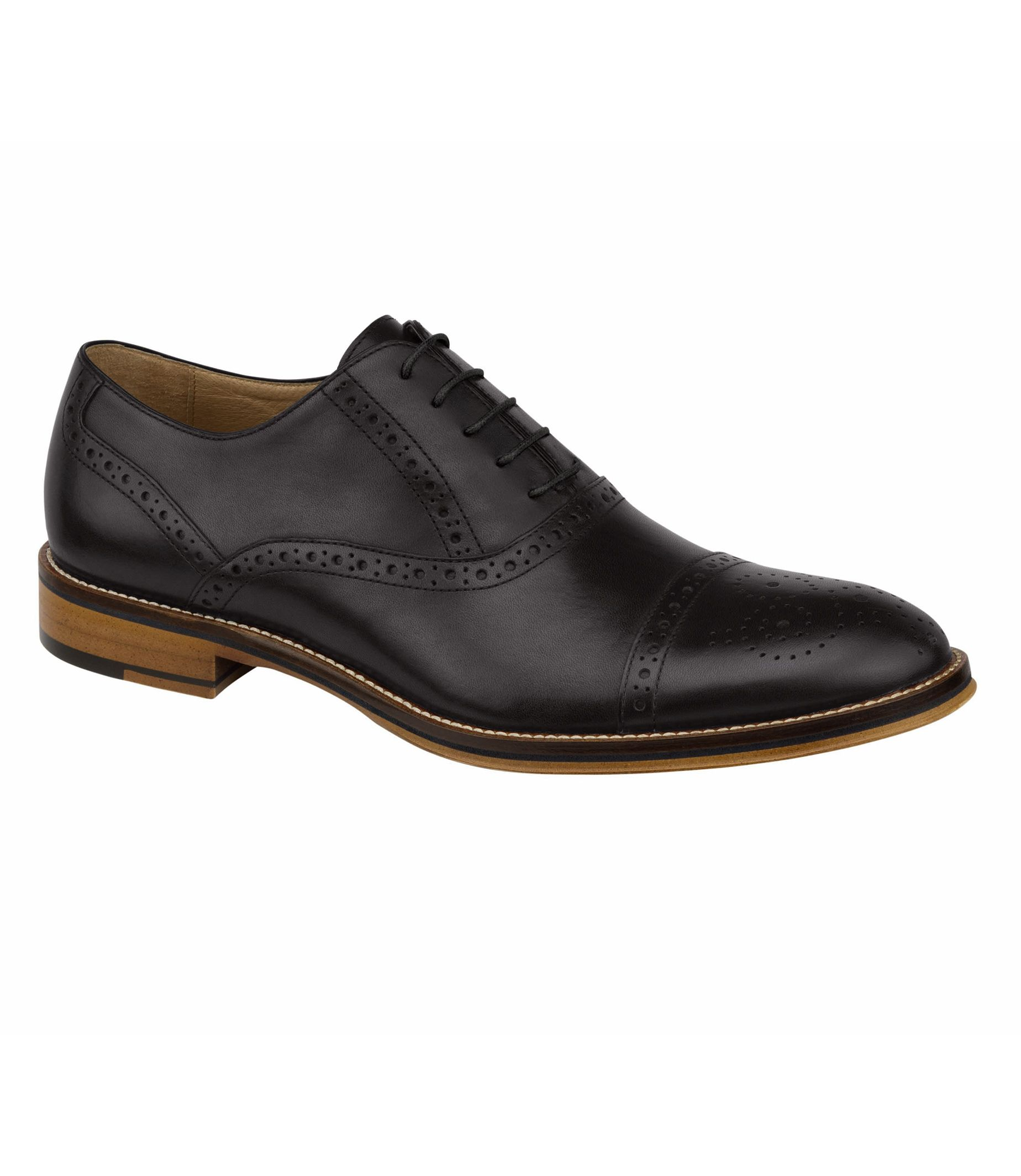 Conrad Cap Toe Shoe by Johnston and Murp          hy
