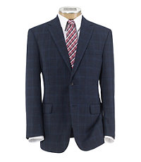 Executive 2-Button Wool Mixweave Windowpane Sportcoat