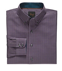 Joseph Long Sleeve Buttondown Collar Mini Check Sportshirt