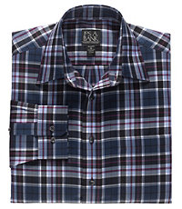 Traveler Long Sleeve Patterned Cotton Point Collar Sportshirt