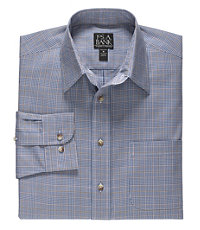Traveler Tailored Fit Long-Sleeve Point Collar Sportshirt