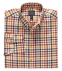 Traveler Wrinkle Free Slim Fit Long Button Down Sports Shirt