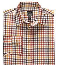 Traveler Wrinkle Free Slim Fit Long Sleeve Point Collar Sportshirt