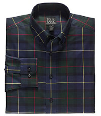 Traveler Buttondown Tartan Long Sleeve Tailored Fit Sportshirt