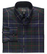 Traveler Buttondown Tartan Long Sleeve Tailored Fit Sportshirt
