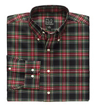 Traveler Buttondown Tartan Plaid Sportshirt Big/Tall