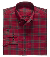 Traveler Buttondown Tartan Large Check Sportshirt Big and Tall