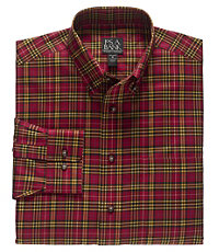 Traveler Buttondown Medium Tartan Sportshirt Big/Tall