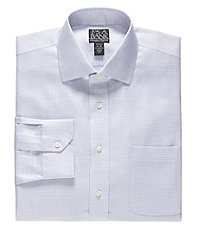 Signature Spread Collar Barrel Cuff Tailored Fit Textured Dress Shirt