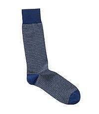Striped Cotton Lisle Mid-Calf Socks