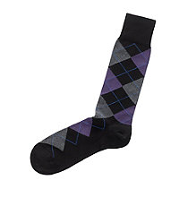 Argyle Mid-Calf Socks
