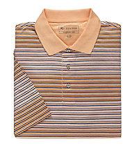 Stays Cool David Leadbetter Multi Stripe Polo