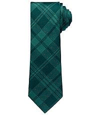 Joseph Slim Tonal Exploded Plaid Tie