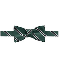 1920sMensTies038BowTies Executive Collection Track Stripe Bow Tie CLEARANCE $34.98 AT vintagedancer.com