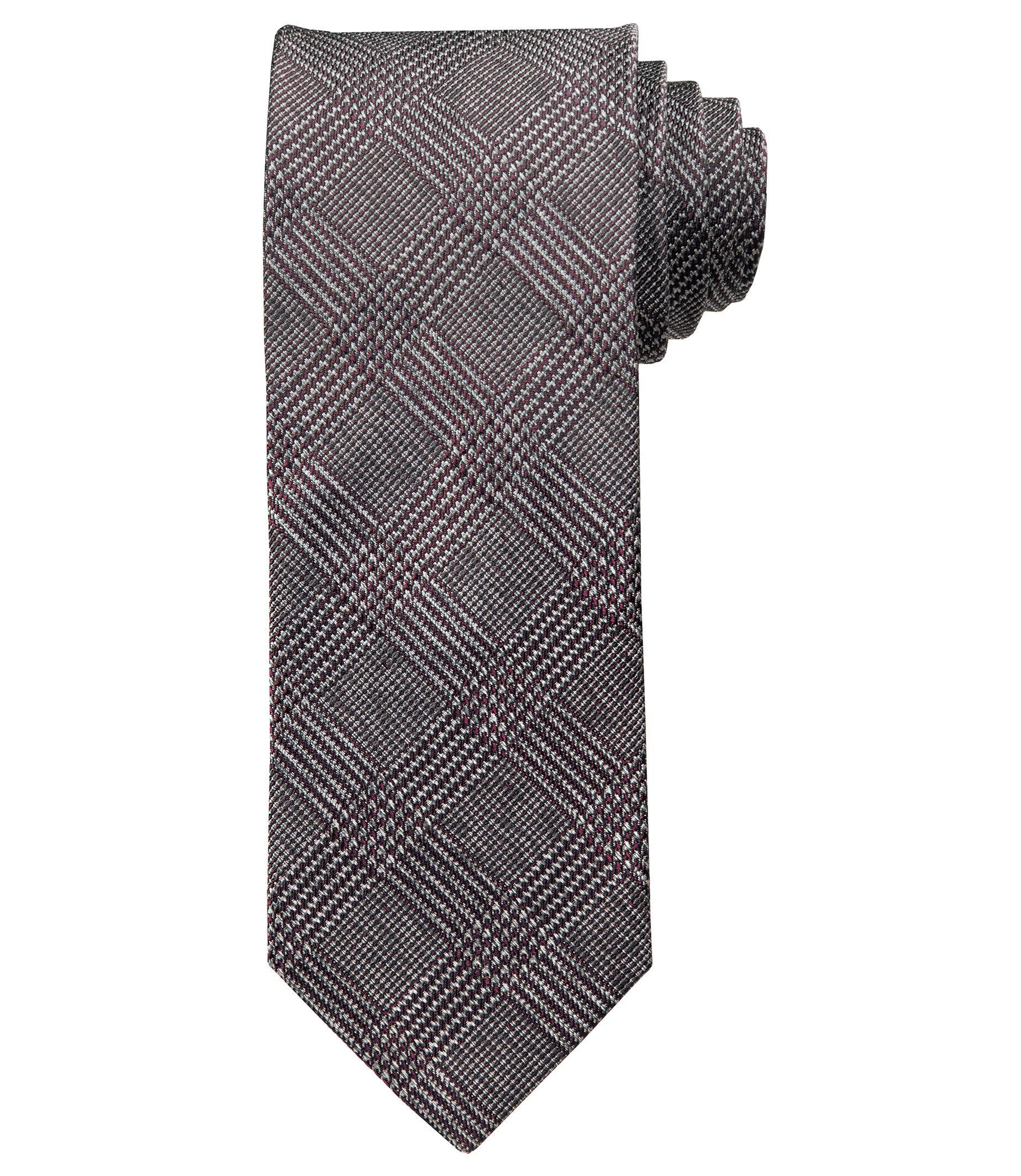 Joseph Melange Plaid Tie