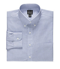 Traveler Slim Fit Buttondown Collar Mini Check Dress Shirt                     F