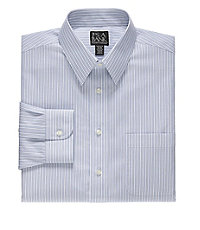 Traveler Tailored Fit Point Collar Wide Stripe Dress Shirt