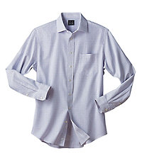 Traveler Tailored Fit Spread Collar Basketweave Dress Shirt