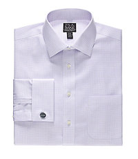 Signature Tailored Fit Spread Collar, French Cuff Dress Shirt
