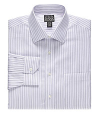Signature Tailored Fit Spread Collar, Barrell Cuff Dress Shirt