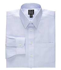 Traveler Point Collar Wrinkle-Free Tailored Fit Dress Shirt Big/Tall