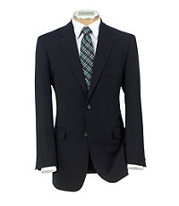 Executive 2-Button Wool/Cashmere Suit with Plain Front Pants