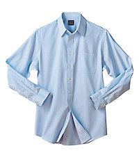 Traveler Tailored Fit Point Collar Square Check Dress Shirt
