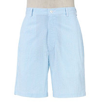 Stays Cool Cotton Plain Front Seersucker Shorts  Extended Sizes