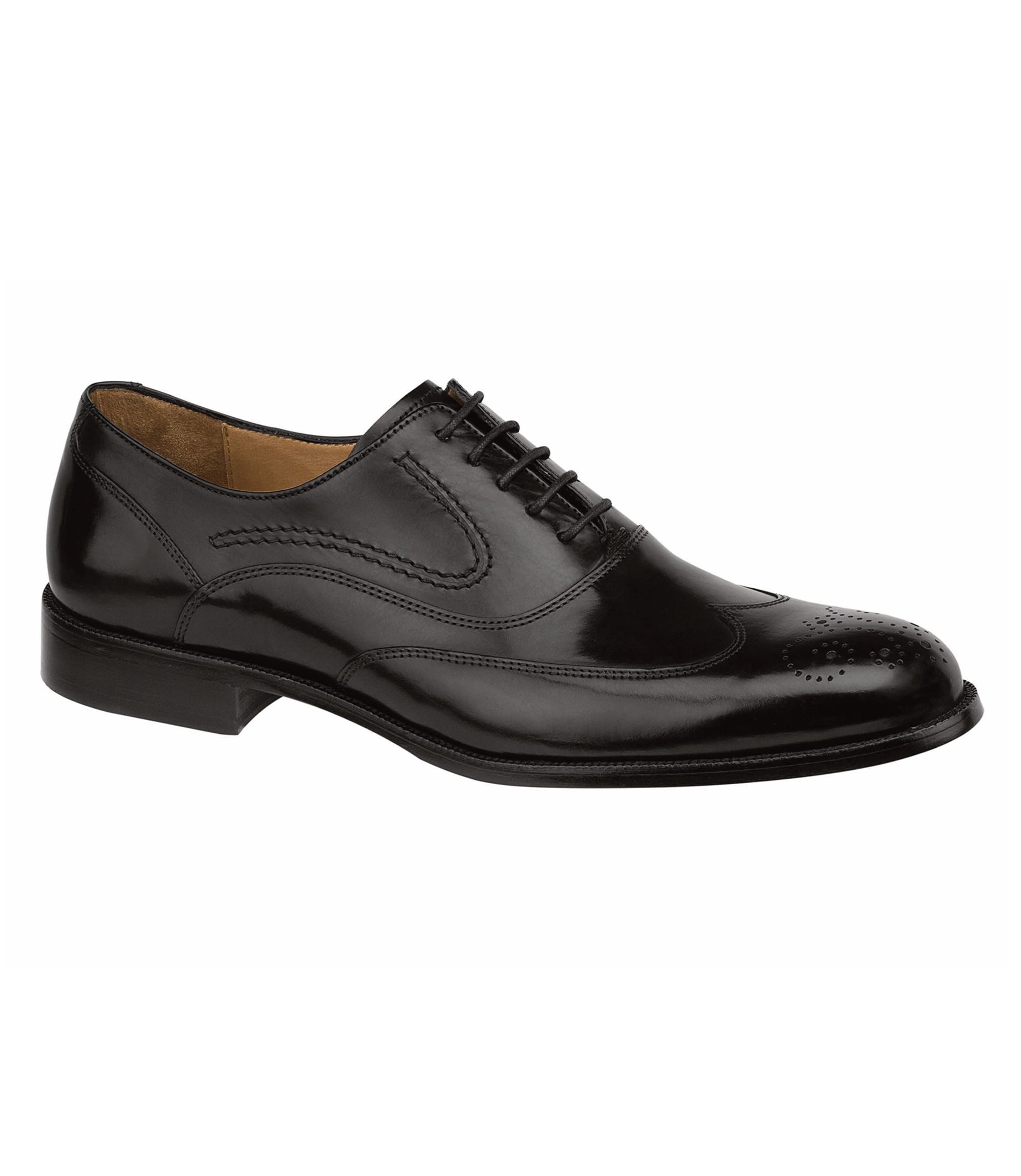 Stratton Wingtip Shoe by Johnston and Murphy