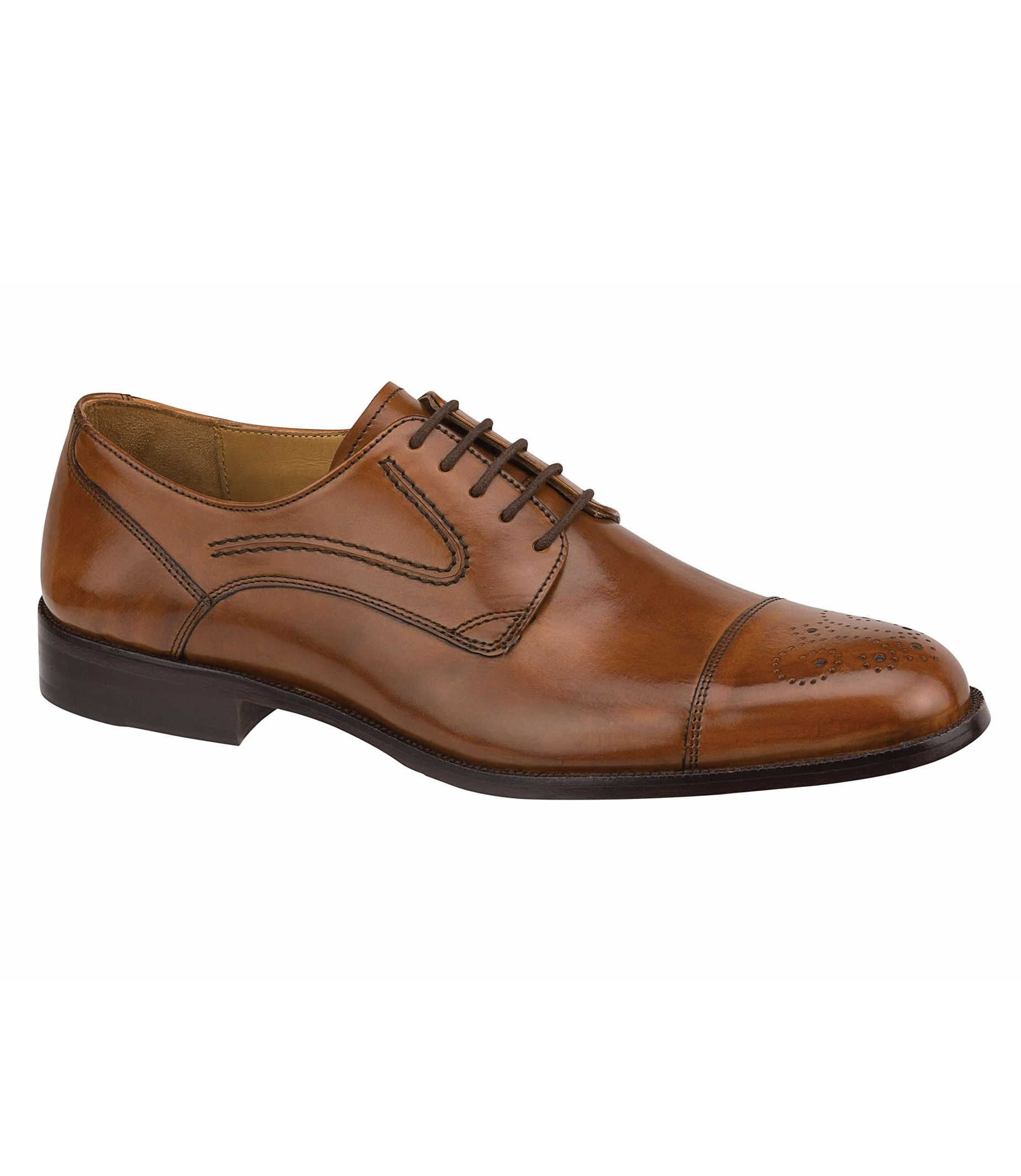 Stratton Cap Toe Shoe by Johnston and Murphy