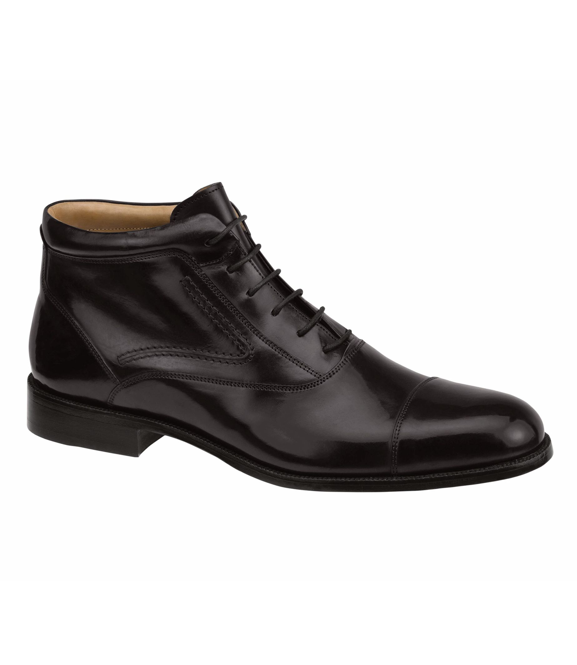 Stratton Cap Toe Boot by Johnston and Murphy