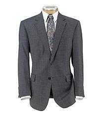 Executive 2-Button Wool Suit Plain Front Trousers