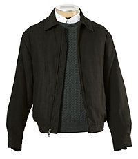 Micro-Suede Zip-Out  Bomber Jacket