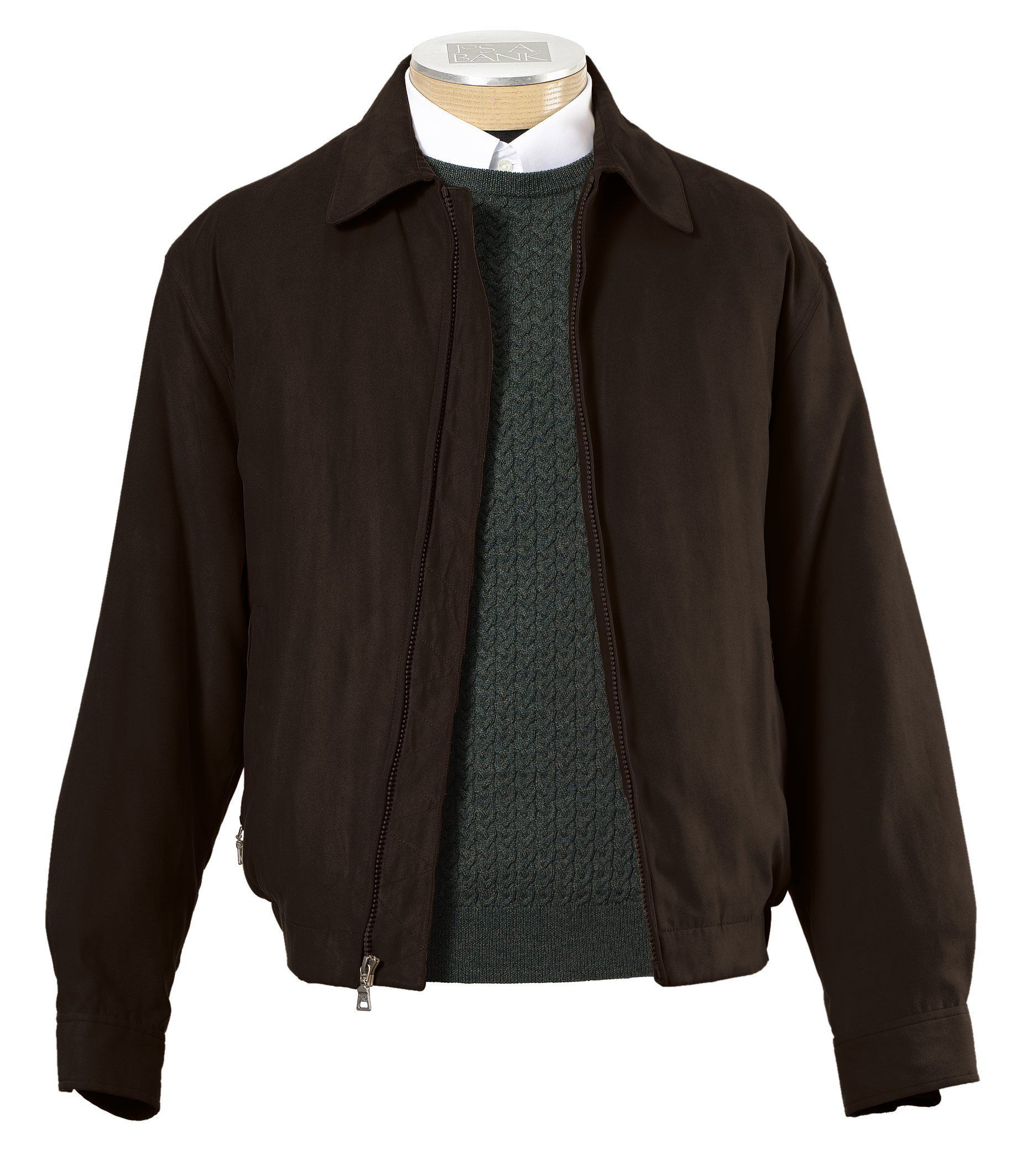 Micro-Suede Zip-Out Bomber Jacket Big and Tall