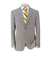 Tropical Blend 2-Button Slim Fit Suit with Plain Front Trousers.