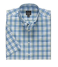 Traveler Short Sleeve Buttondown Patterned Sportshirt