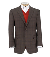 Executive 2-Button Wool Patterned Sportcoat Big and Tall