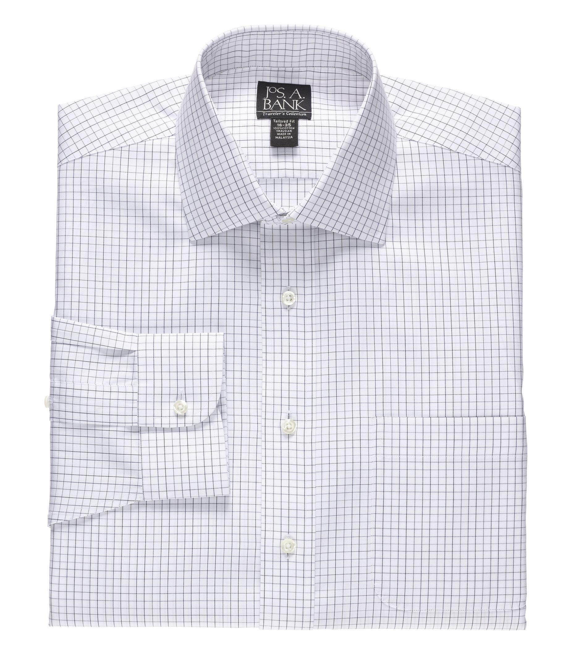 Travelers Slim Fit Spread Collar Dress Shirt