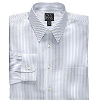 Factory Store Wrinkle Free Tailored Fit Point Collar Dress Shirt