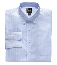 Factory Store Non-Iron Tailored Fit Button Down Dress Shirt $59.99 AT vintagedancer.com