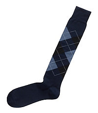 Cotton Over The Calf Argyle Socks