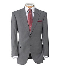 Signature Imperial Wool/Silk Suit with Pleat Front Trousers