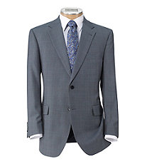 Signature Imperial Wool/Silk Suit with Plain Front Trousers