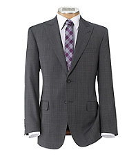 Joseph 2 Button Tailored Fit Suit with Plaid Front Trousers